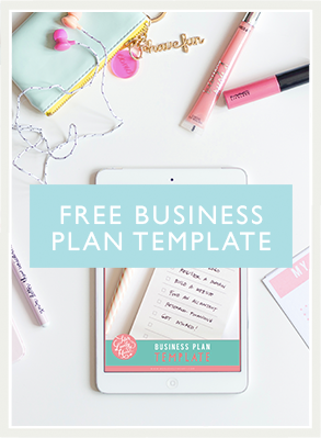 The cutest free business plan template there ever was!